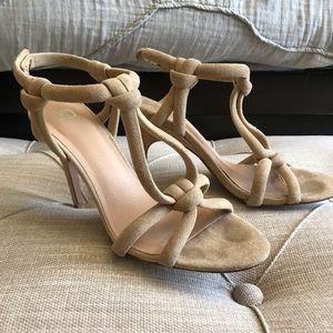 Joe's suede tan heeled sandals